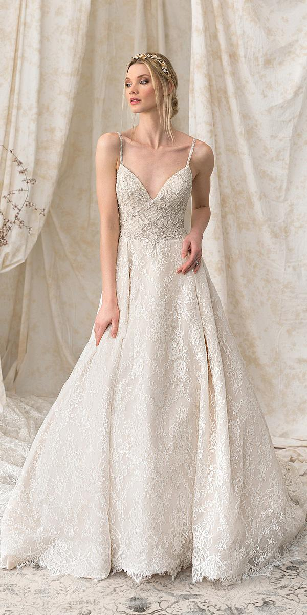 justin alexander signature wedding dresses a line with spaghetti straps lace simple