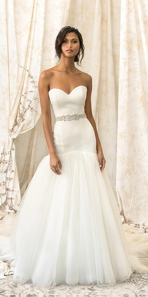 justin alexander signature wedding dresses mermaid beaded belt tulle skirt simple