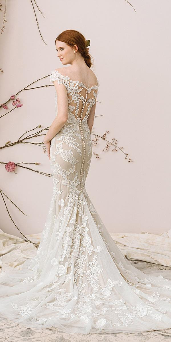 justin alexander signature wedding dresses mermaid with cap sleeves illusion back full lace