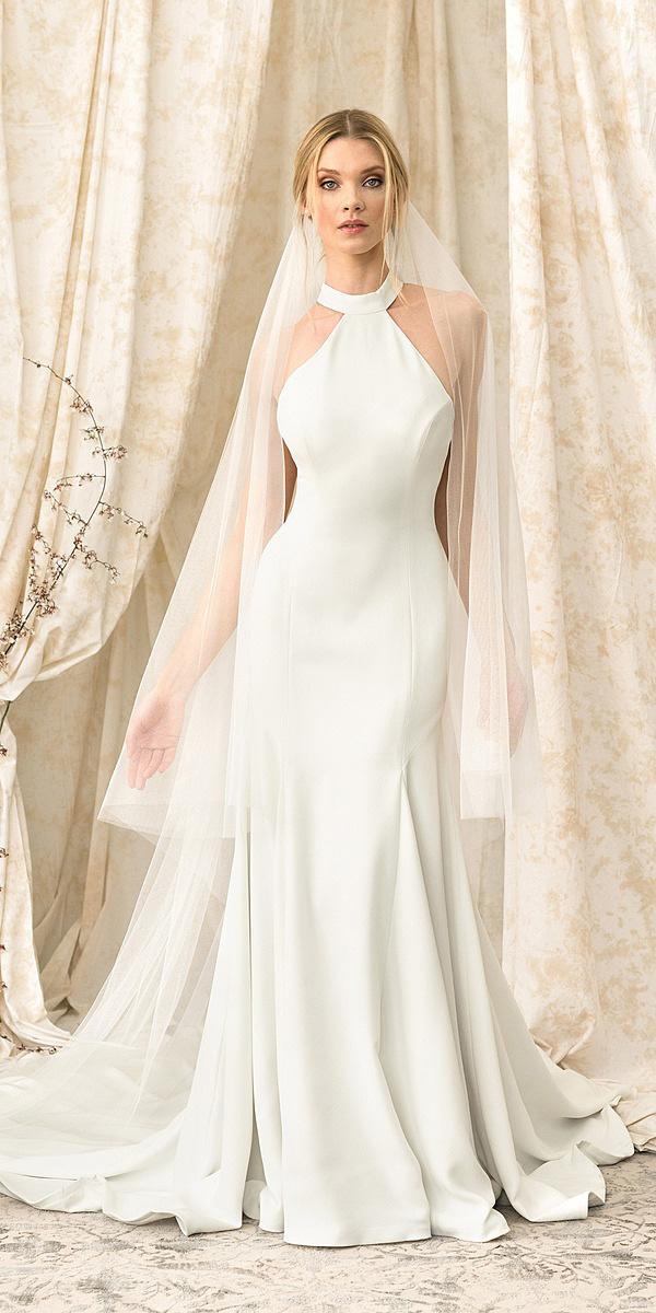 justin alexander signature wedding dresses sheath jewel neck simple 2018