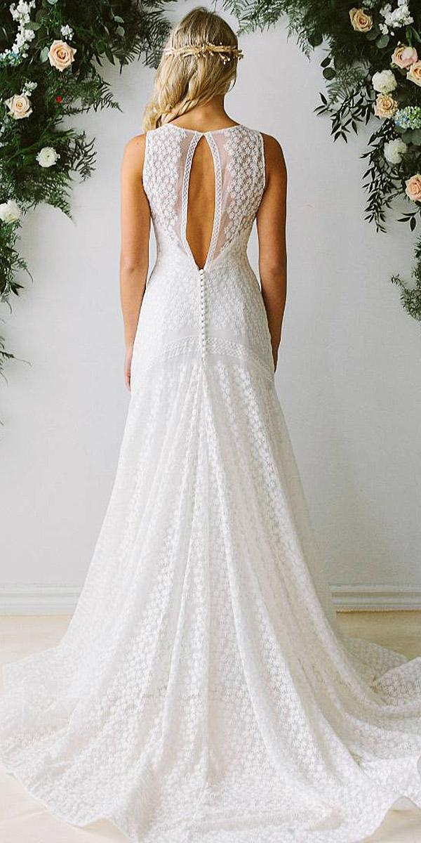 lace back wedding dresses a line open sleeveless alta moda
