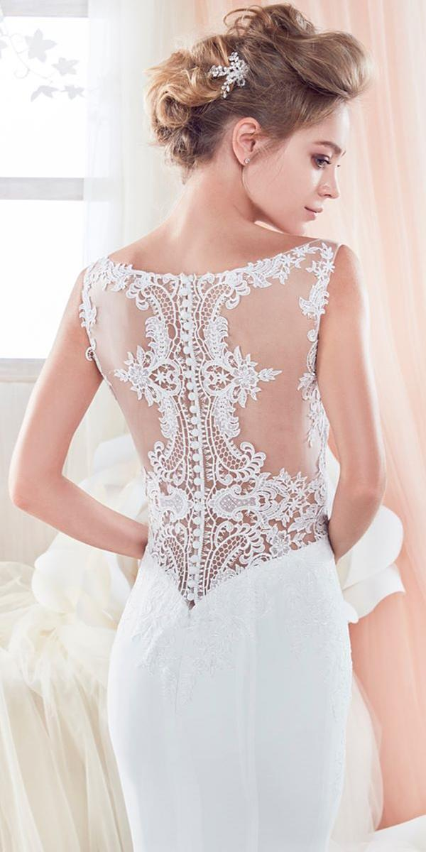 lace back wedding dresses details tatoo effect nicole spose