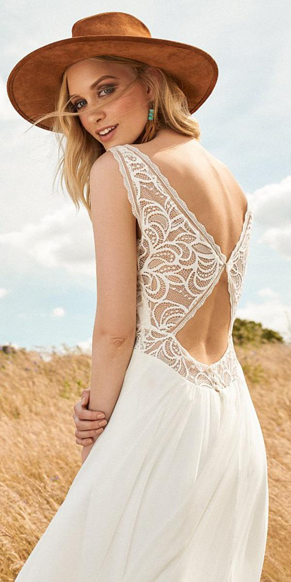 lace back wedding dresses lace top sleeveless rembo styling