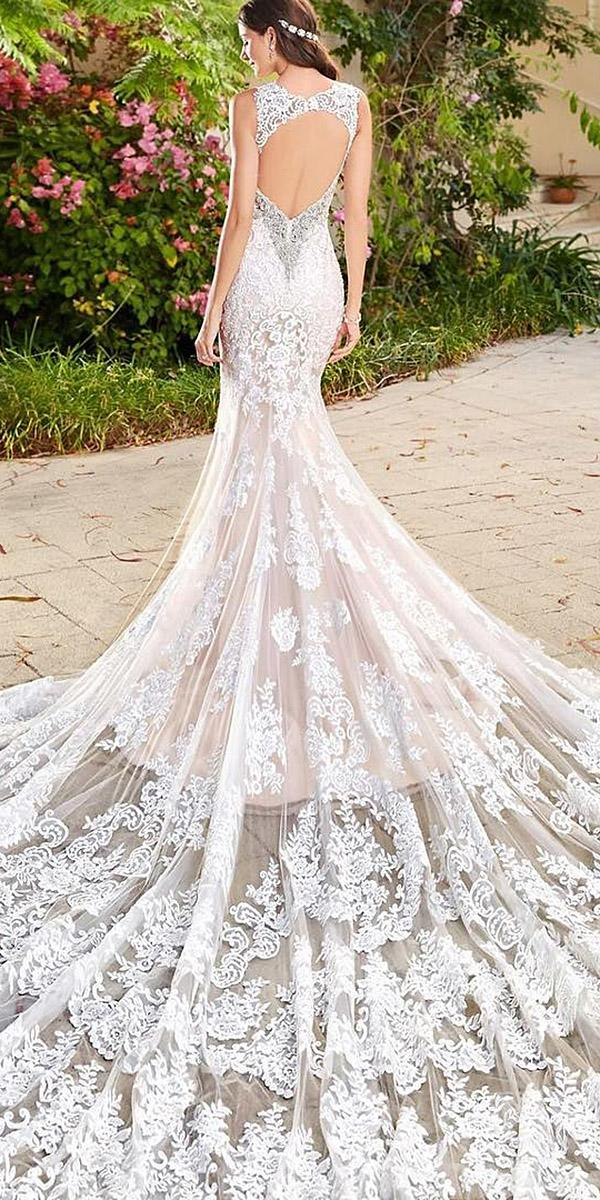 lace back wedding-dresses mermaid open full lace with train kitty chen couture