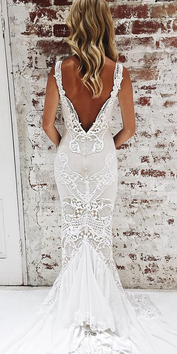 lace back wedding dresses sheath lace embroidered vintage jane hill bridal