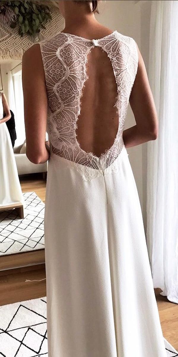 lace back wedding dresses sheath sleeveless melody nelson bridal