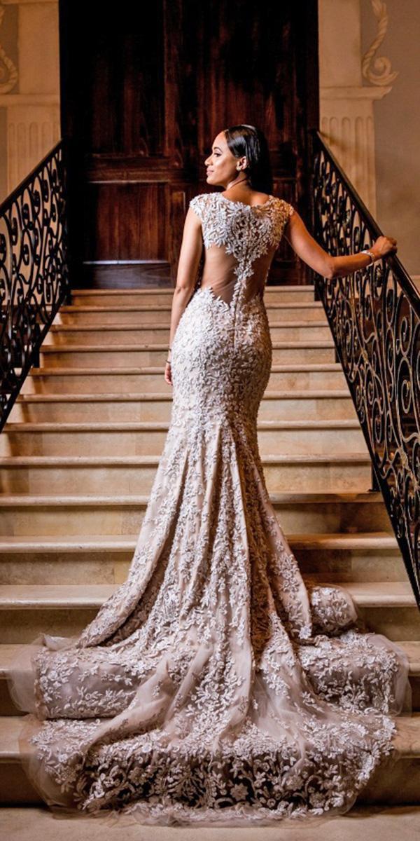 24 lovely lace back wedding dresses wedding dresses guide for Tattoo lace back wedding dress
