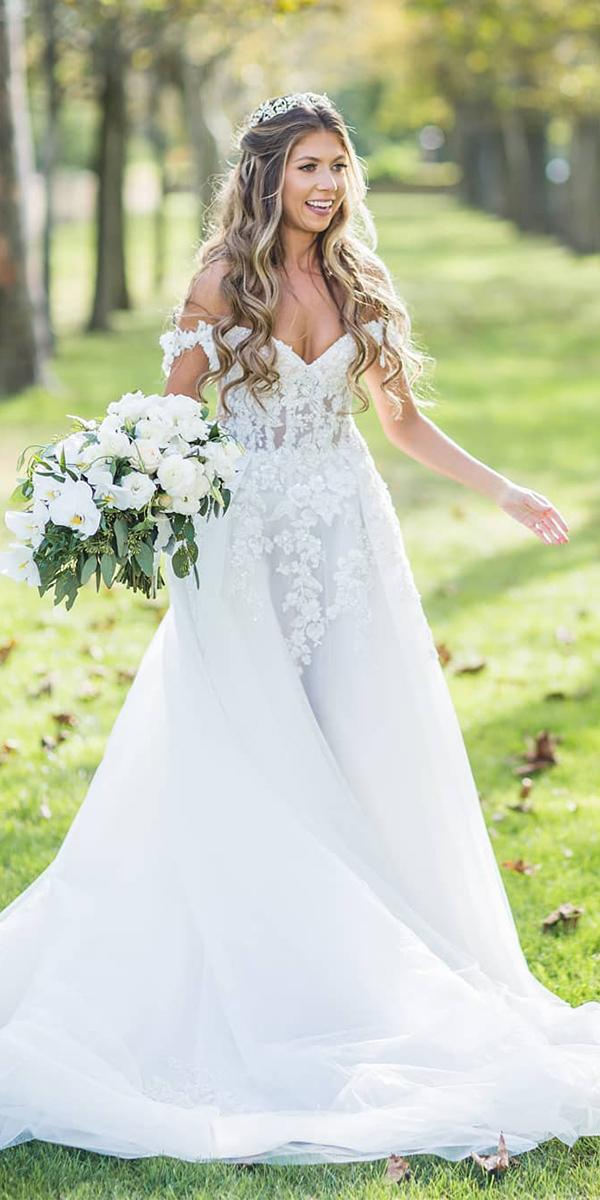 lace ball gown wedding dresses ball gown off the shoulder sweetheart galia lahav