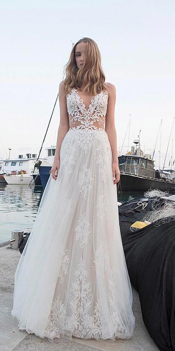 lace beach wedding dresses a line sweetheart alon livne white