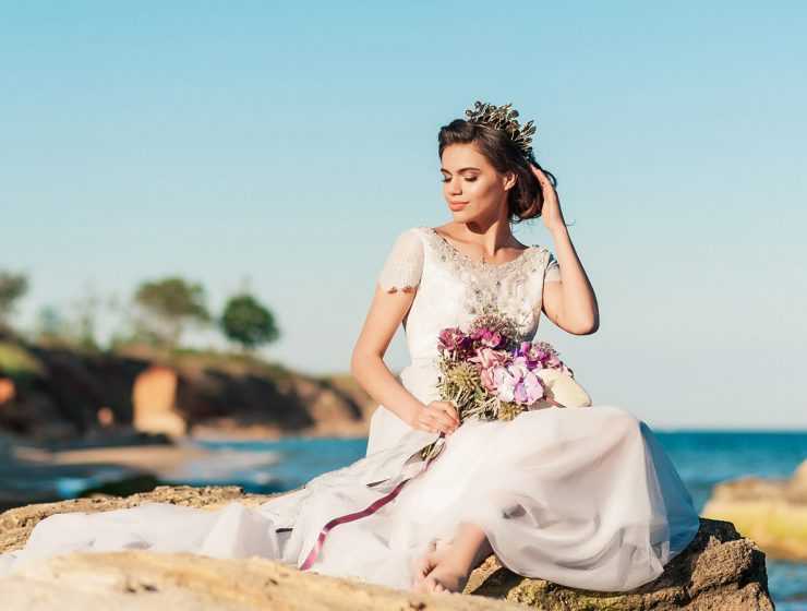 lace beach wedding dresses featured