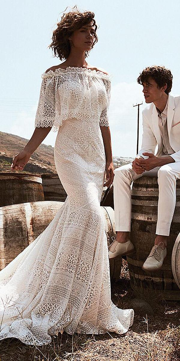 lace beach wedding dresses sheath sweetheart lace boho lillian west