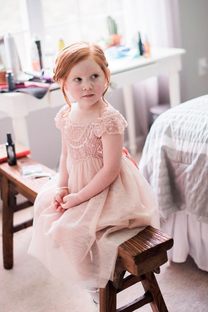 lace flower girl dresses blush with short sleeves julie paisley