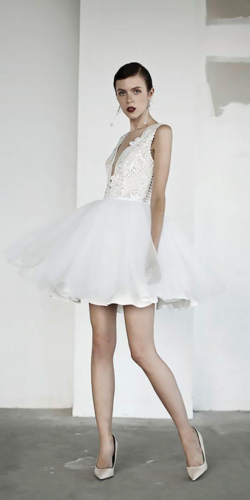 15 Trendy Lace Short Wedding Dresses | Wedding Dresses Guide