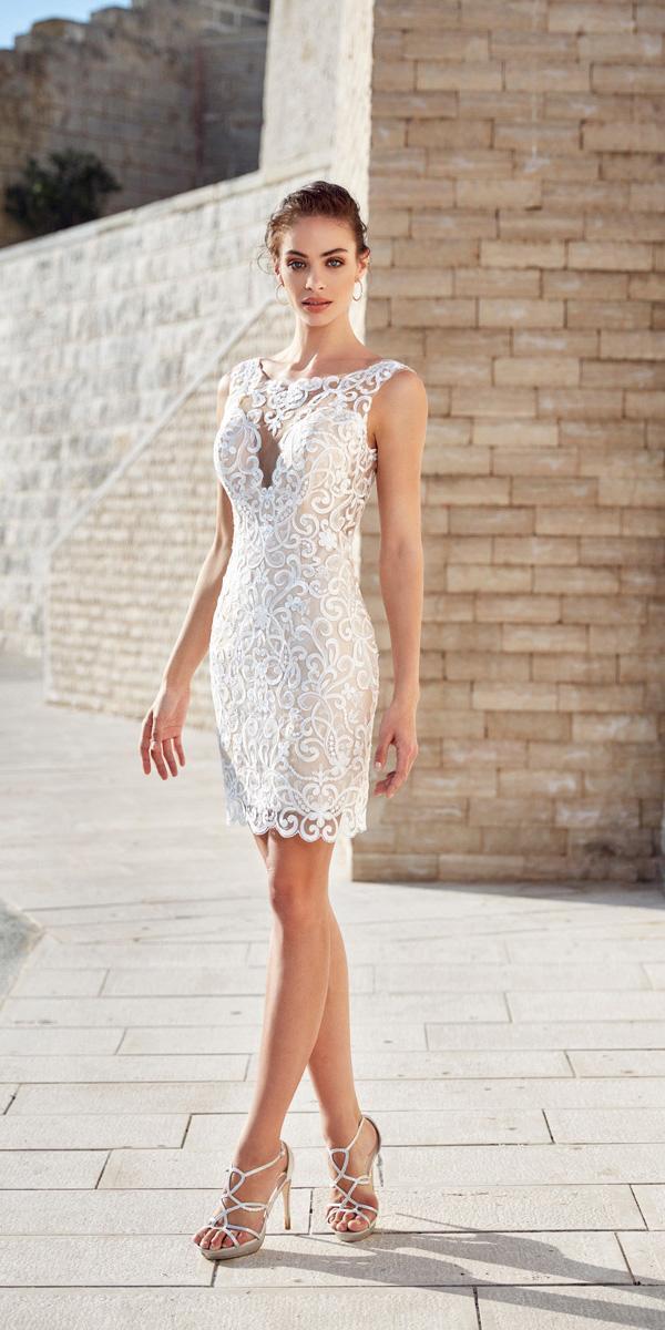 lace short wedding dresses sweetheart sleveless eddy k