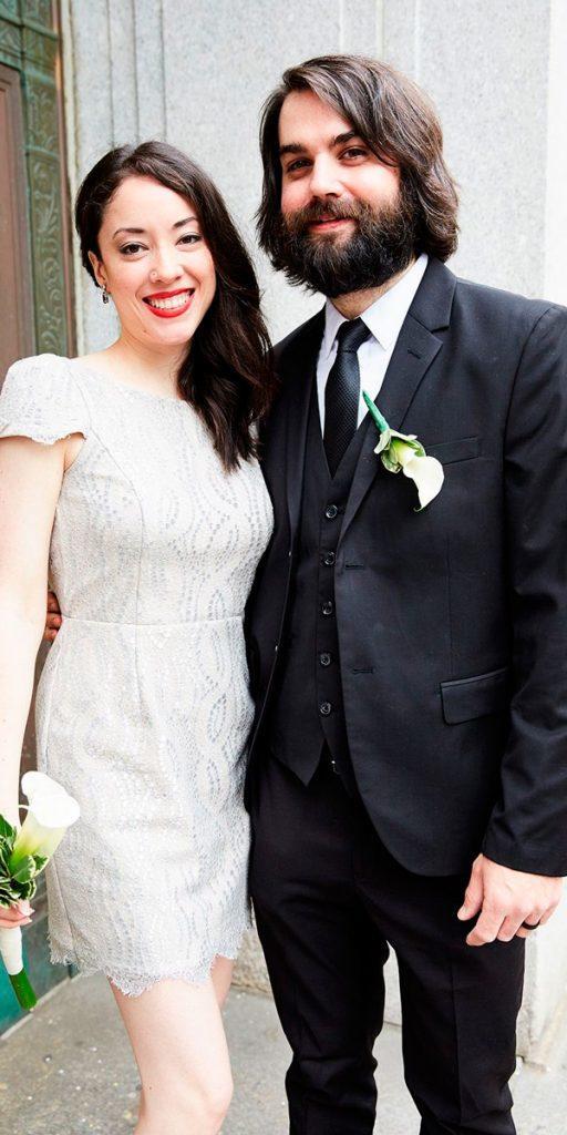 lace short wedding dresses vintage cap sleeves lauren perlstein