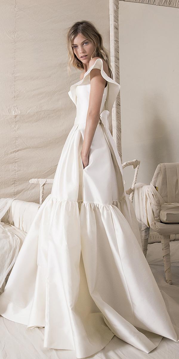 lihi hod wedding dresses 2018 a line simple ivory