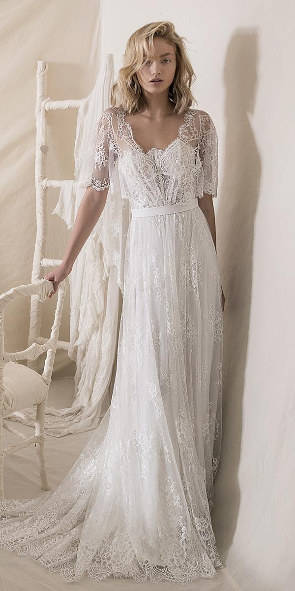 lihi hod wedding dresses 2018 a line with overlay lace embellishment romantic