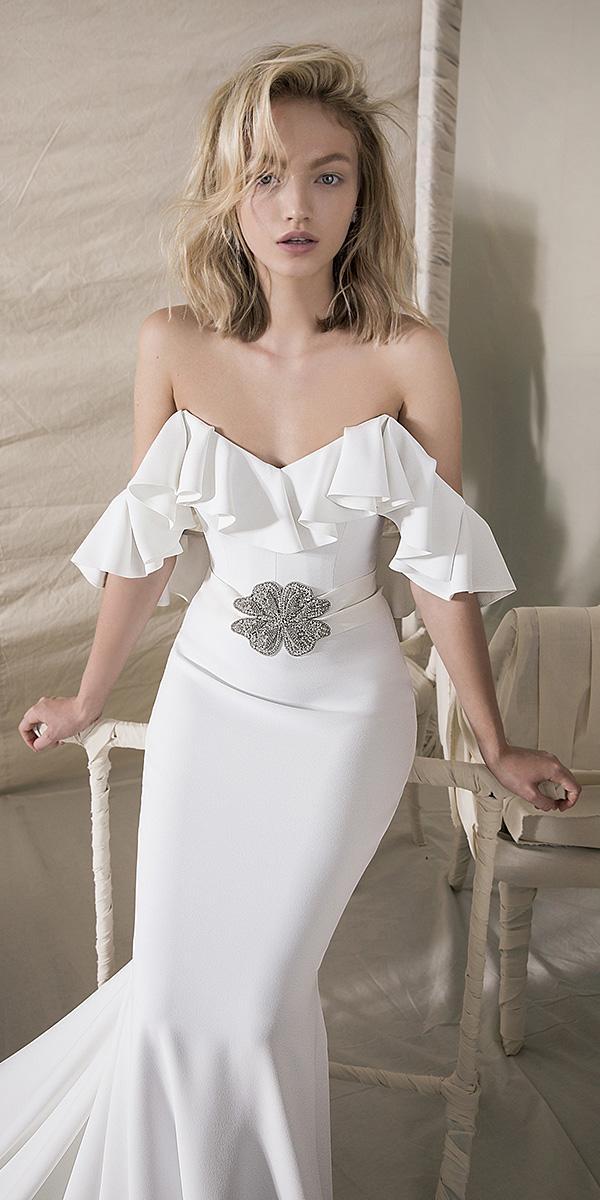 lihi hod wedding dresses 2018 mermaid flowing sleeves simple elegant