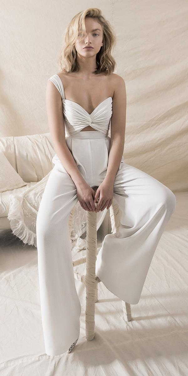 lihi hod wedding dresses 2018 one shoulder sweetheart top separated