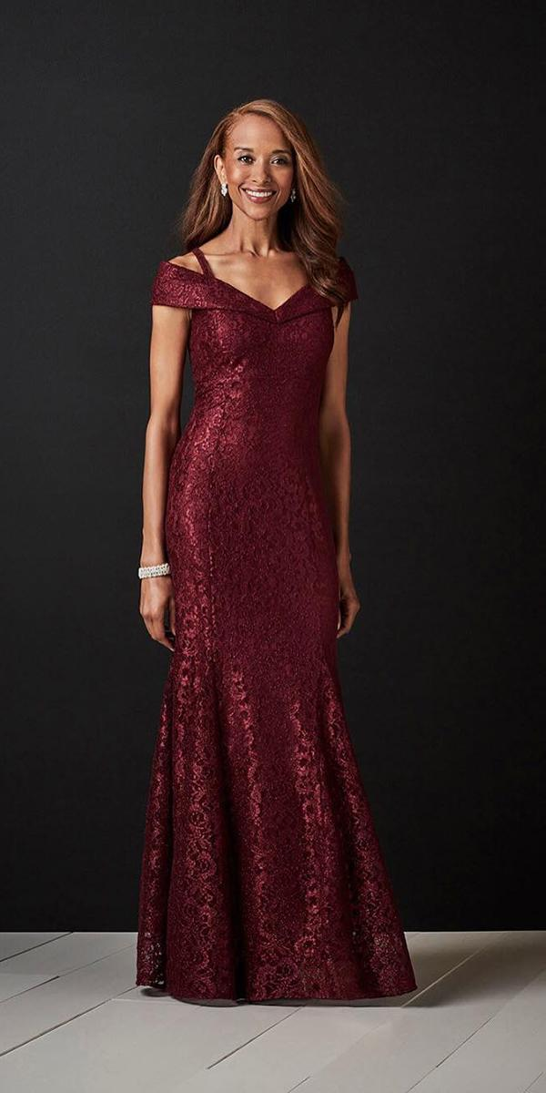 long mother of the dresses long off the shoulder burgundy for fall davids bridal