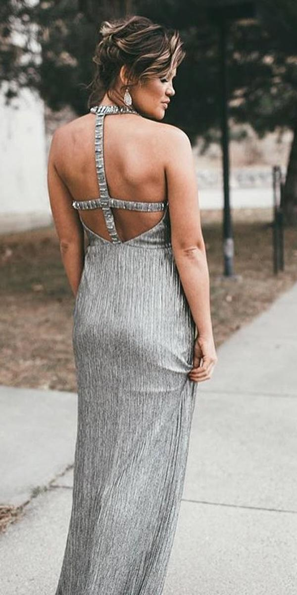 long mother of the bride dresses long silver open back adrianna papel