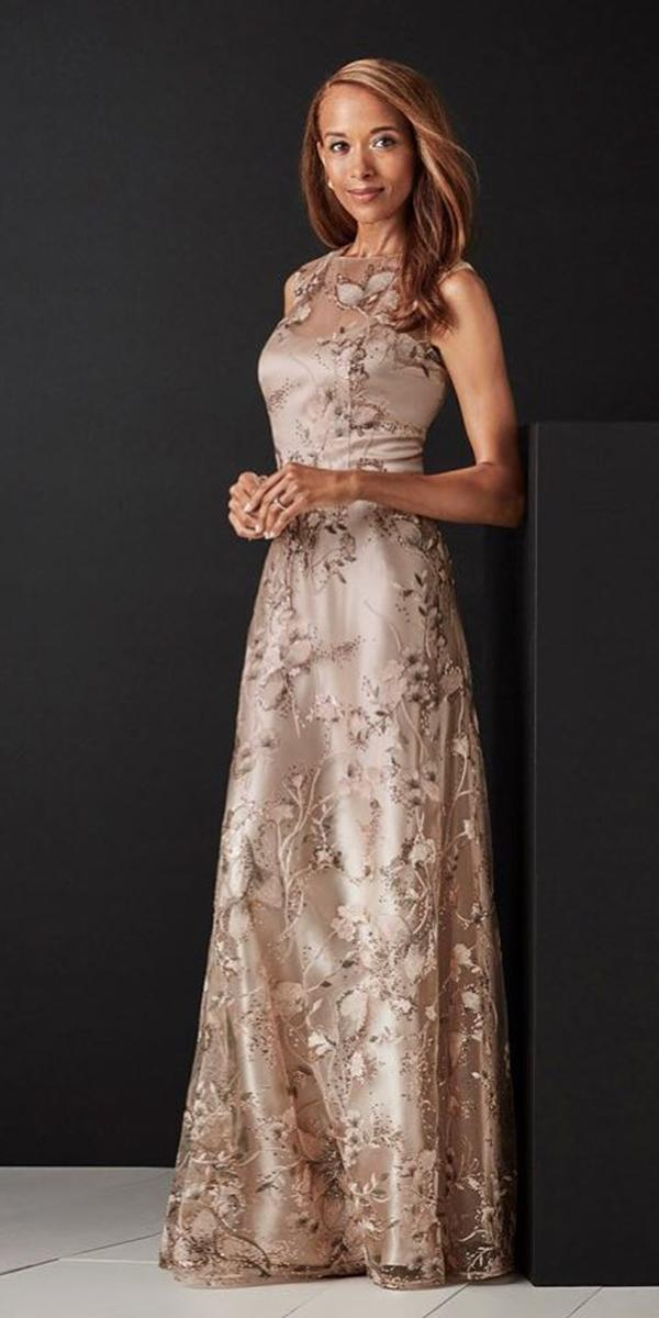 long mother of the bride dresses long sleveless with floral davids bridal