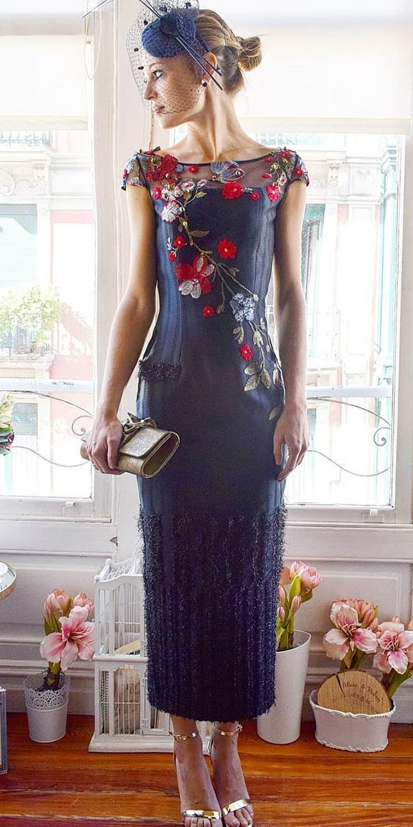 long mother of the bride dresses long with cap sleeves floral appliques alicia rueda