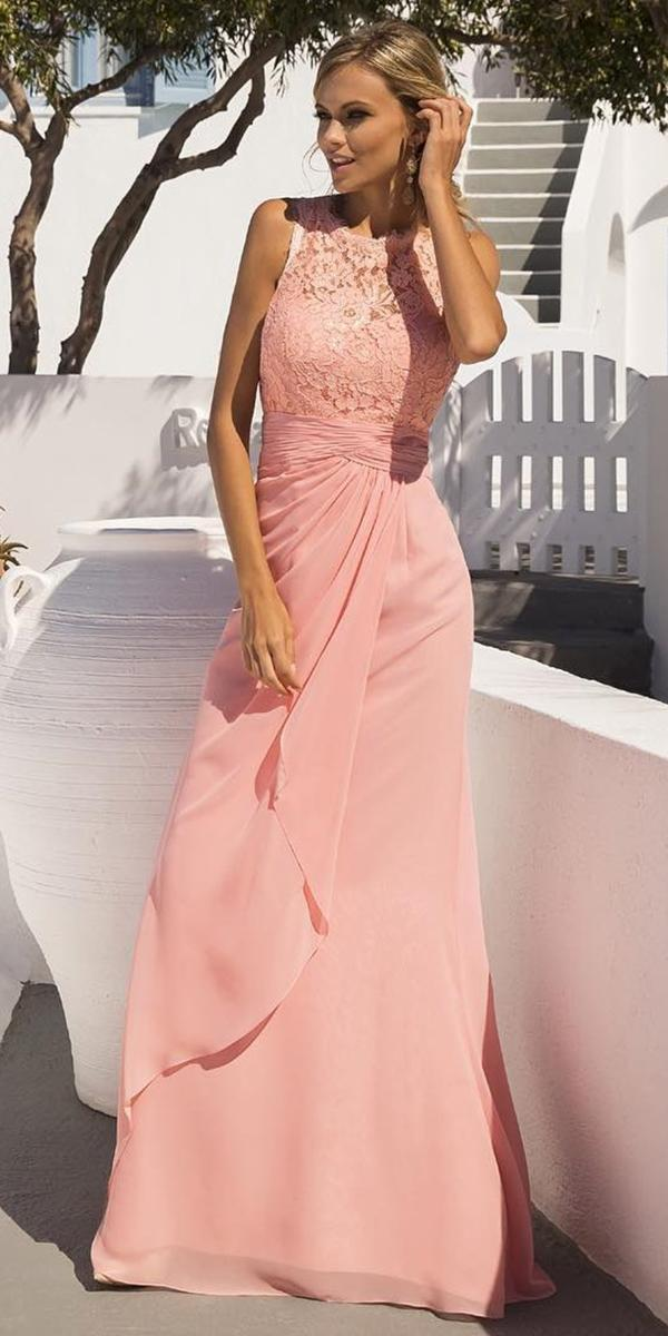 long mother of the bride dresses pink for spring lace top linea raffaelli