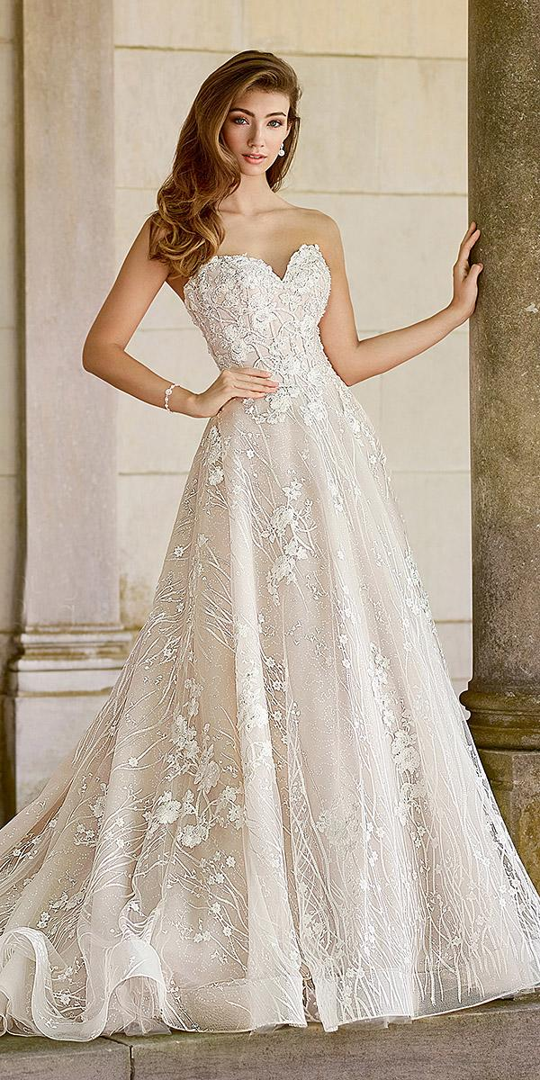 martin thornburg wedding dresses a line floral appliques blush