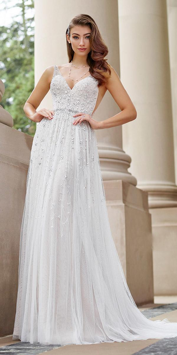 martin thornburg wedding dresses a line sweetheart with floral appliques train