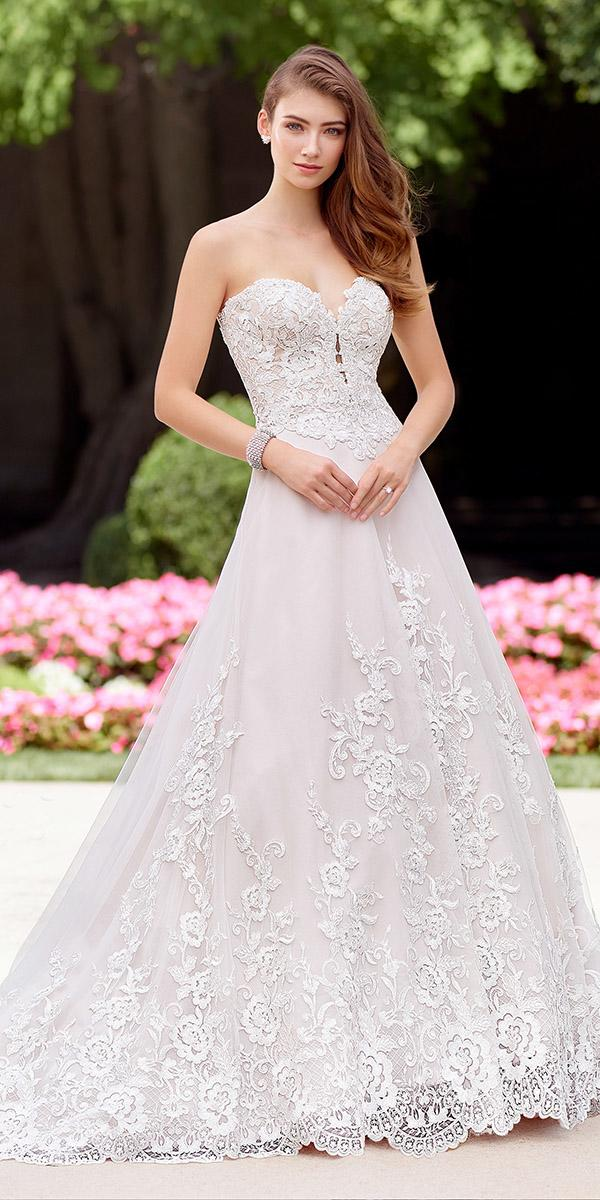 martin thornburg wedding dresses ball gown full lace with train 2018