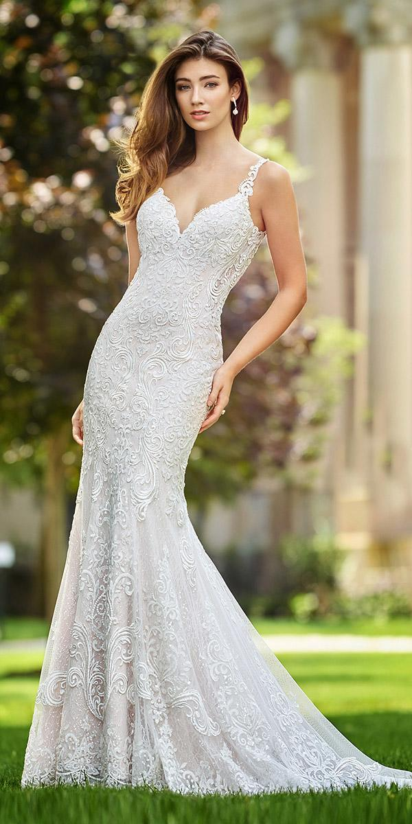 martin thornburg wedding dresses mermaid sweetheart lace embellishment straps