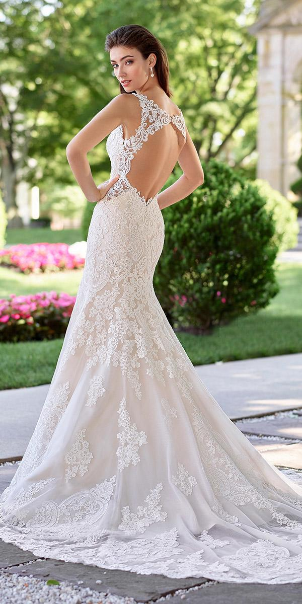 martin thornburg wedding dresses open back tatto effect lace 2018