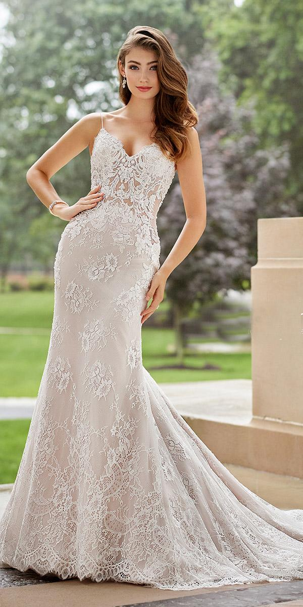 martin thornburg wedding dresses sheath with straps foral 2018