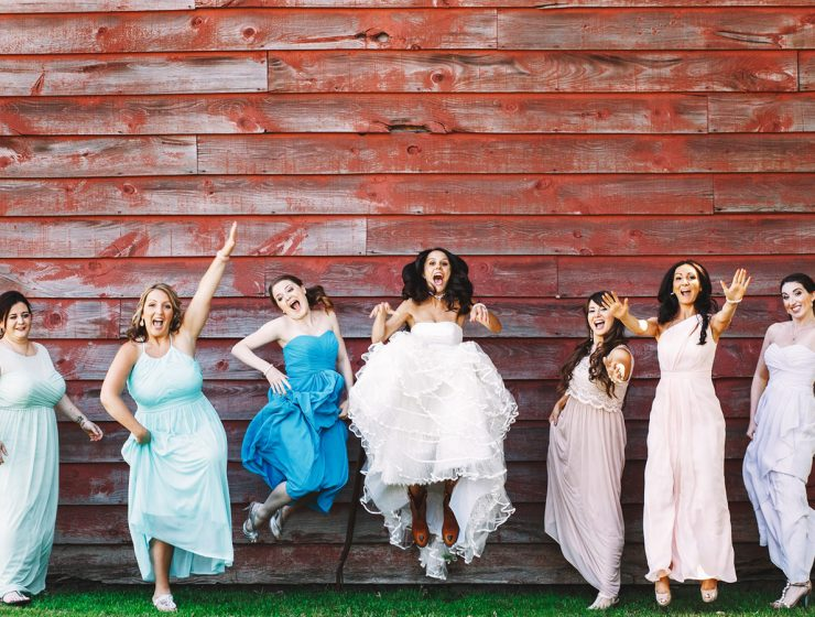 mismatched bridesmaid dresses featured