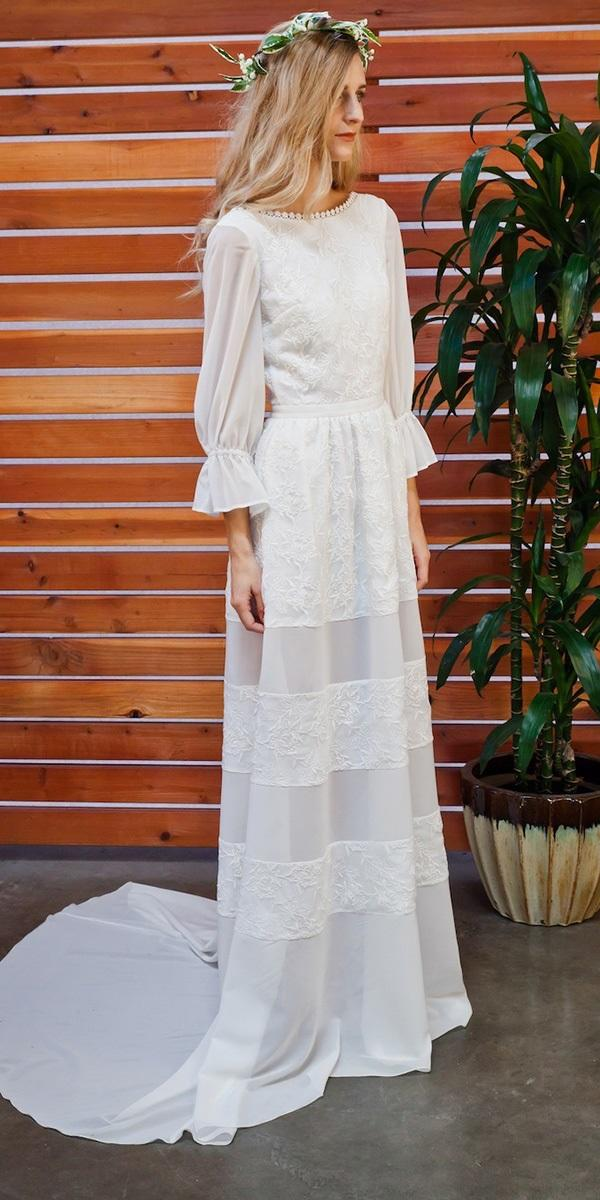 modest 'wedding dresses a line delicate lace dreams and lovers