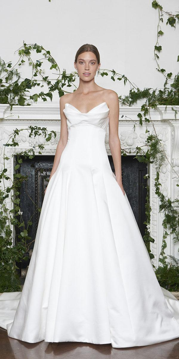 monique lhuillier wedding dresses 2018 a line sweetheart simple