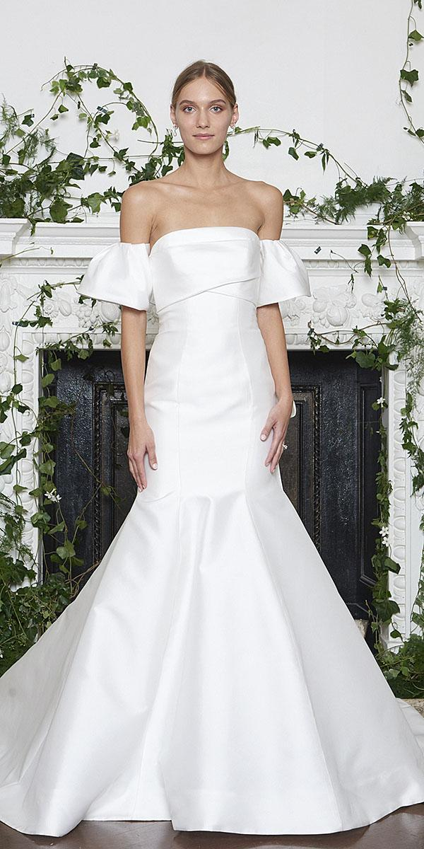 monique lhuillier wedding dresses 2018 mermaid with flowing sleeves simple