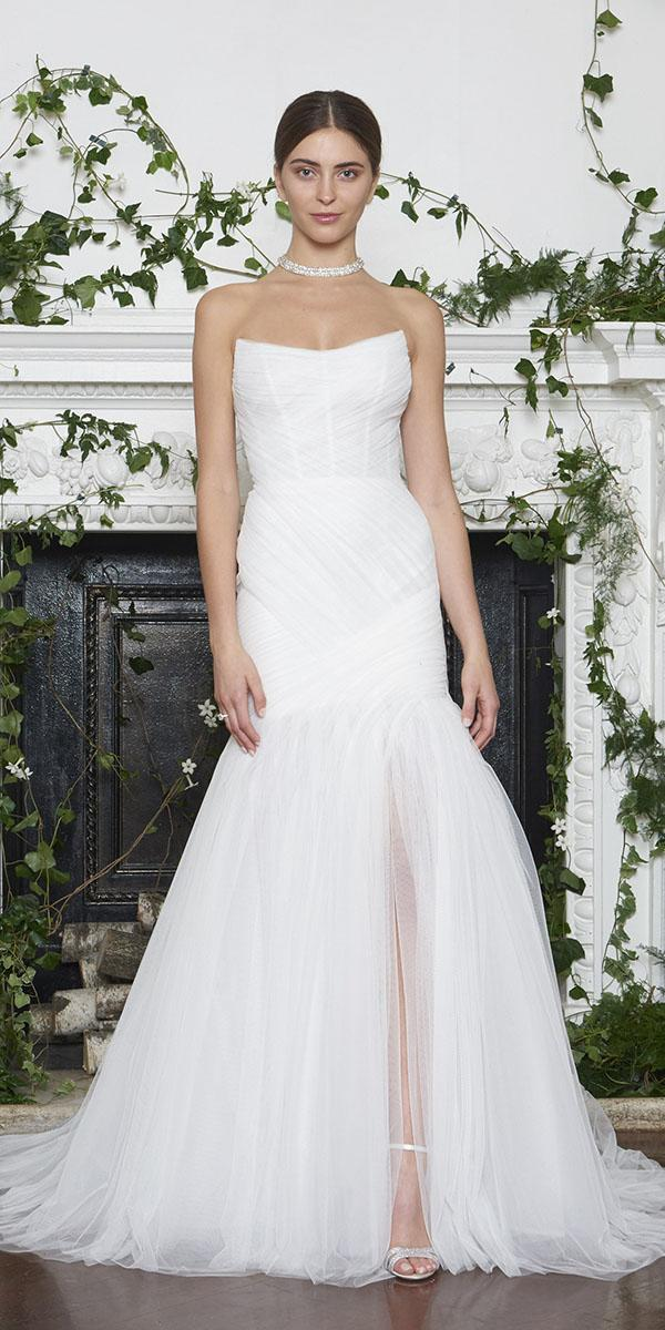 monique lhuillier wedding dresses 2018 tulle skirt simple