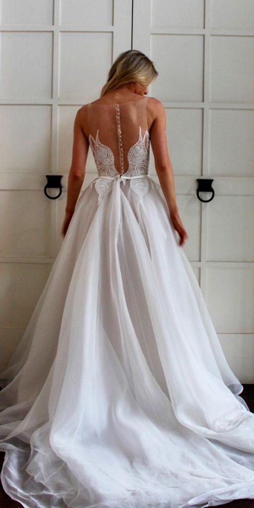 revealing wedding dresses a line illusion backless sleeveless mariana hardwick