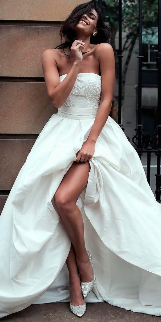revealing wedding dresses strapless ball gown simple moira hughes