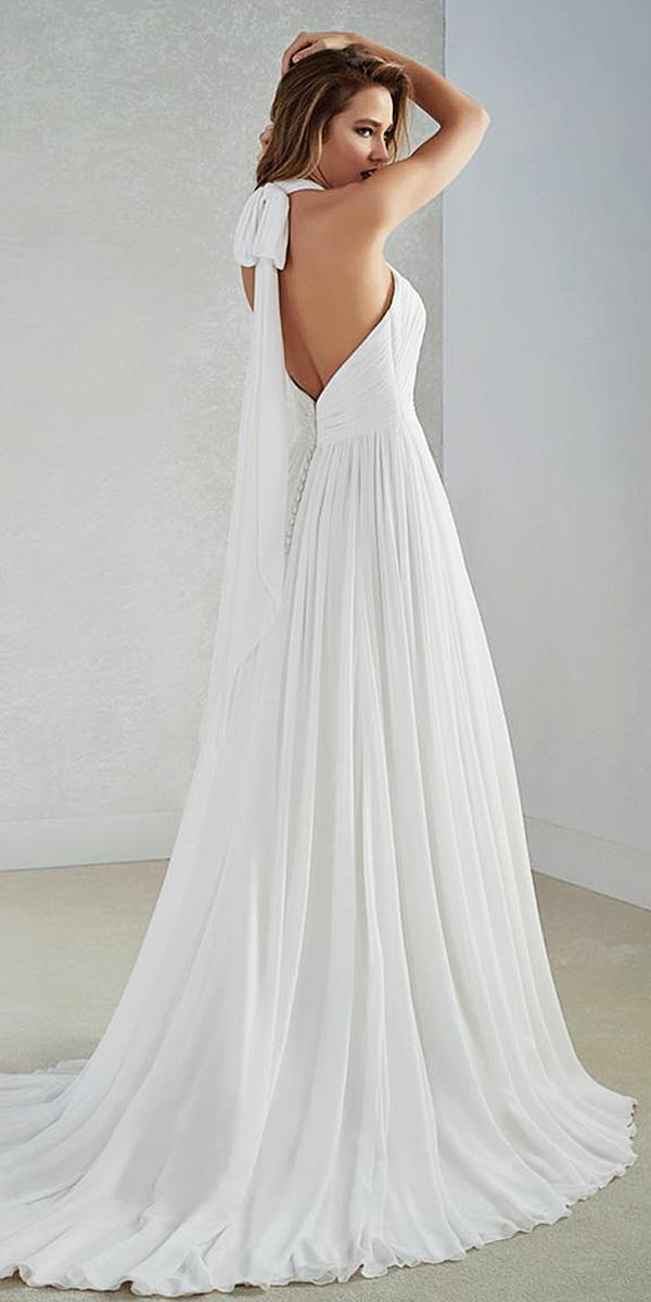 st patrick wedding dresses a line low back simple