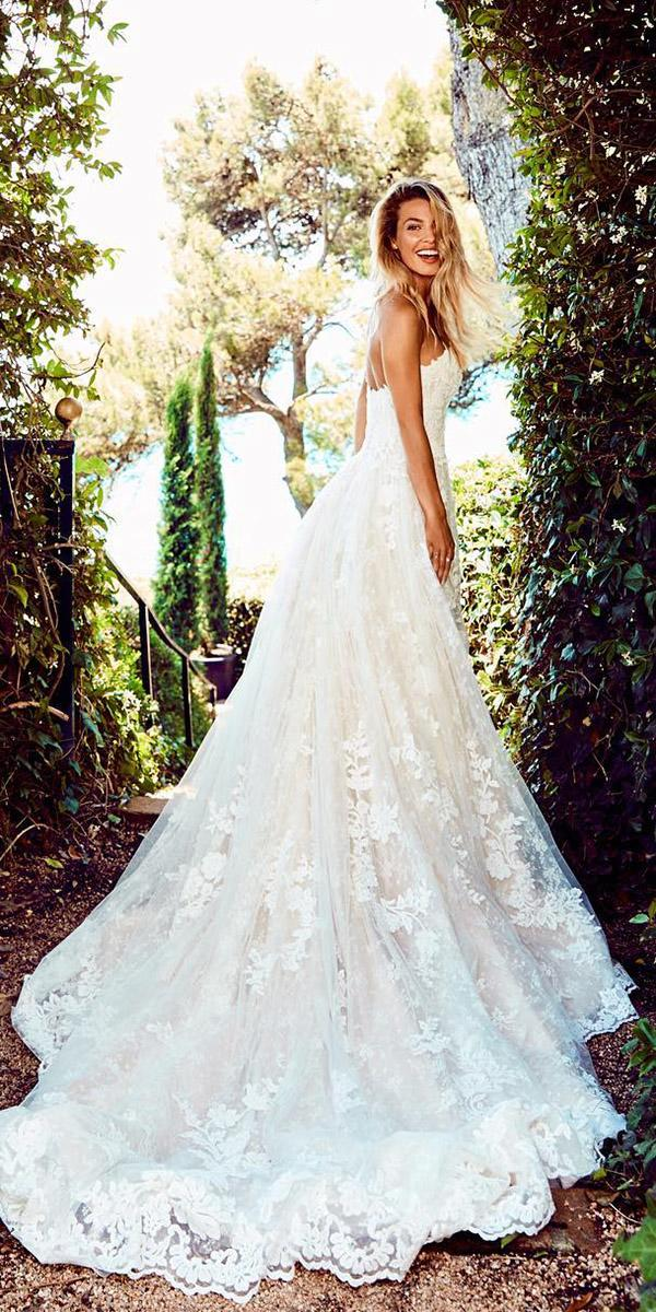 st. patrick wedding dresses a line sweetheart lace embellishment 2018