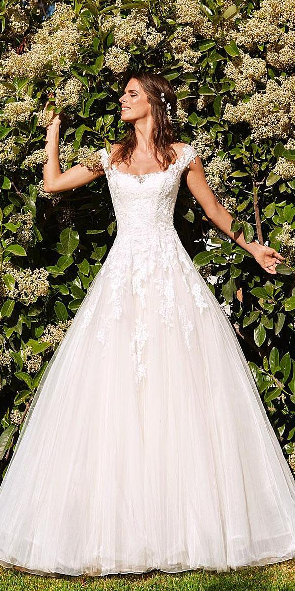 st. patrick wedding dresses a line with cap sleeves straight accross 2018