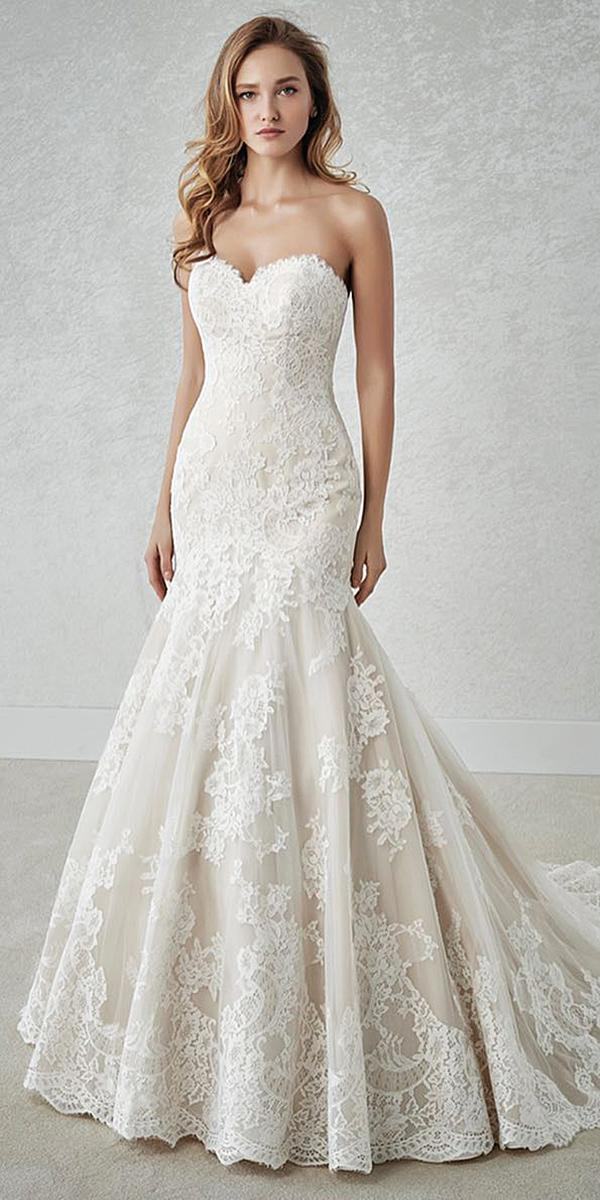 st patrick wedding dresses mermaid sweetheart full lace 2018