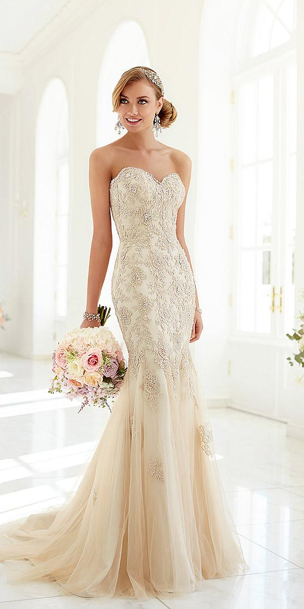 sweetheart mermaid wedding dresses bling blush stella york