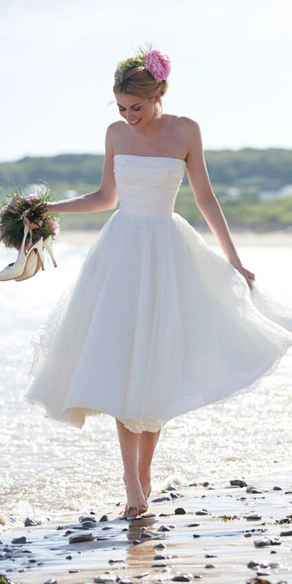 tea length wedding dresses dresses straight across simple beach stephanie allin