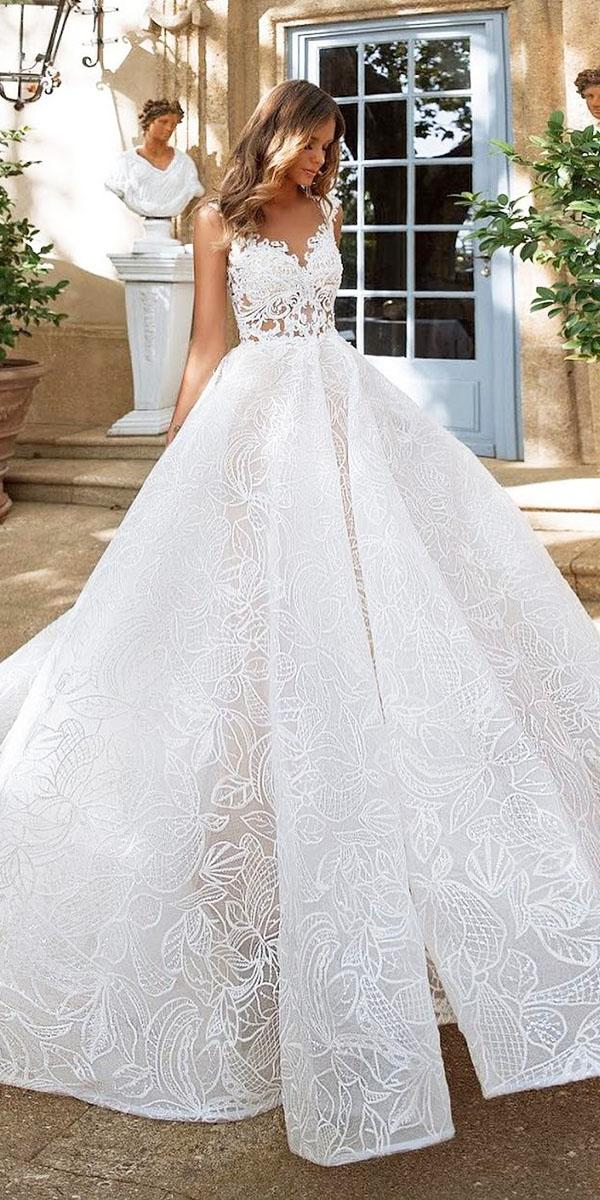 top wedding dresses ball gown sweetheart lace milla nova