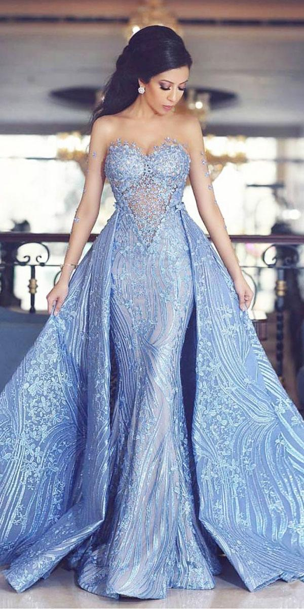 top wedding dresses mermaid sweetheart overskirt floral blue ahmad younes photography