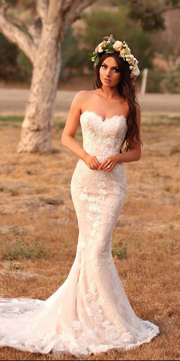 top wedding dresses mermaid sweetheart with train enzoani